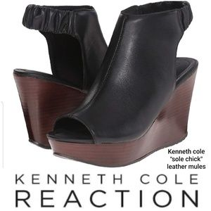 """Kenneth cole """"sole chick"""" leather slingback mules"""
